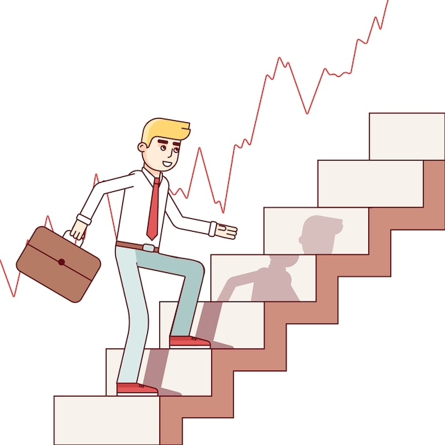 Деловой человек и биржевой трейдер Бесплатные векторы