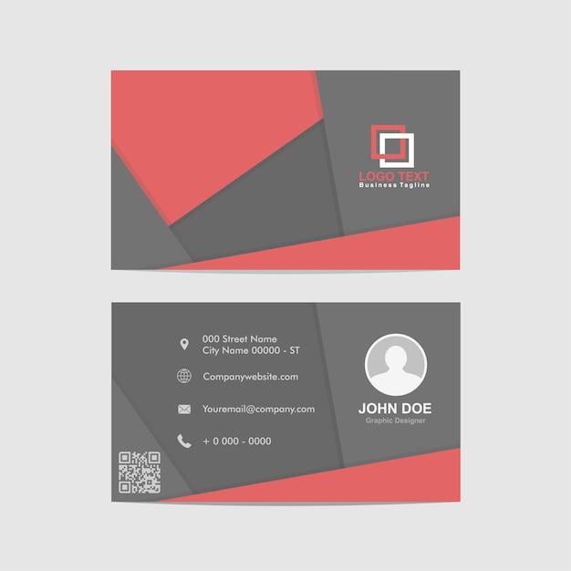 Абстрактная визитная карточка, шаблон удостоверения личности Premium векторы