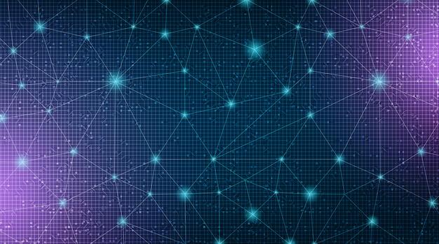デジタルリンクネットワークシステム技術の背景 Premiumベクター