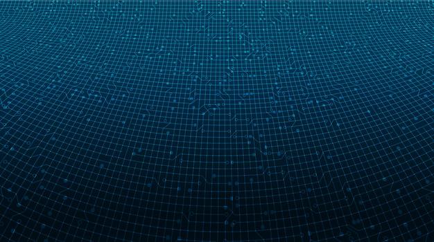 Технология микросхемы цифровой линии Premium векторы