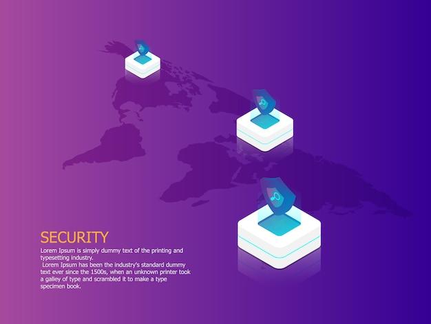 ネットワークセキュリティー Premiumベクター
