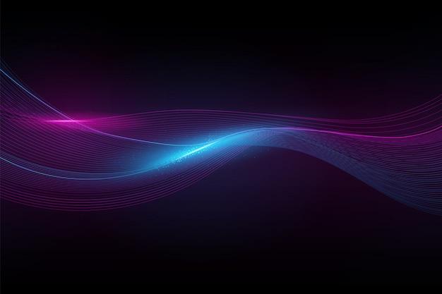 抽象的なスペクトル波 Premiumベクター