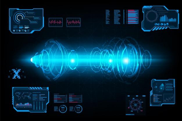 抽象的な未来的なシステムサークルトンネル Premiumベクター