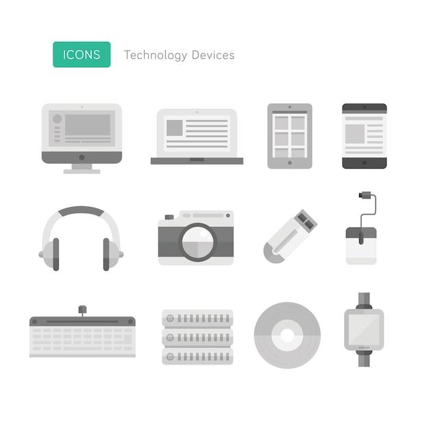 技術デバイスのアイコン Premiumベクター