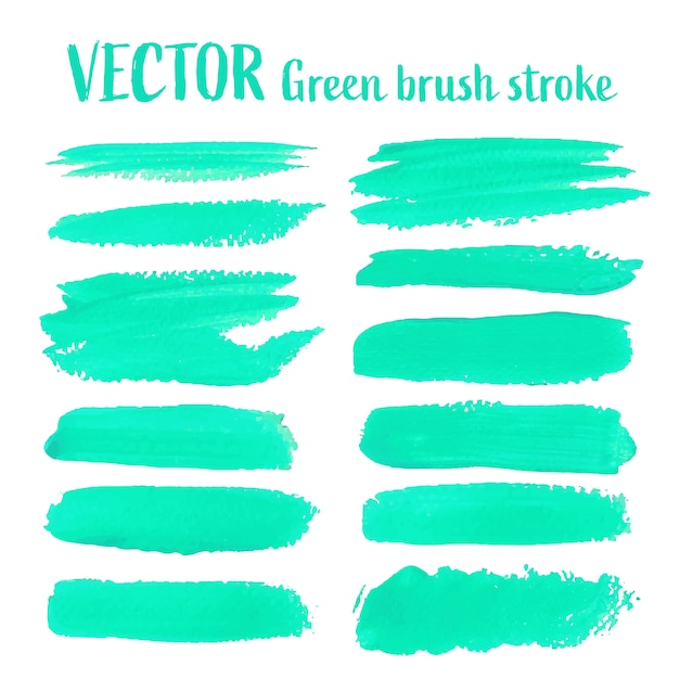 緑色のブラシストローク Premiumベクター