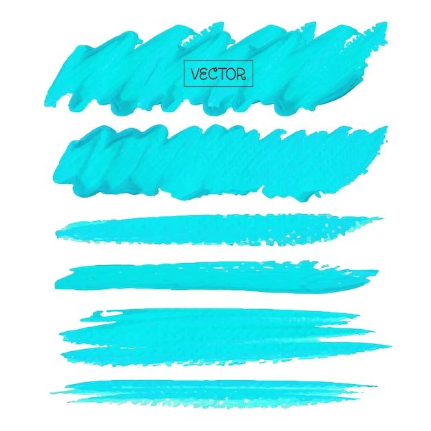 Синяя кисть Premium векторы