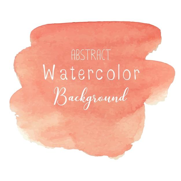 オレンジ色の抽象的な水彩画の背景 Premiumベクター