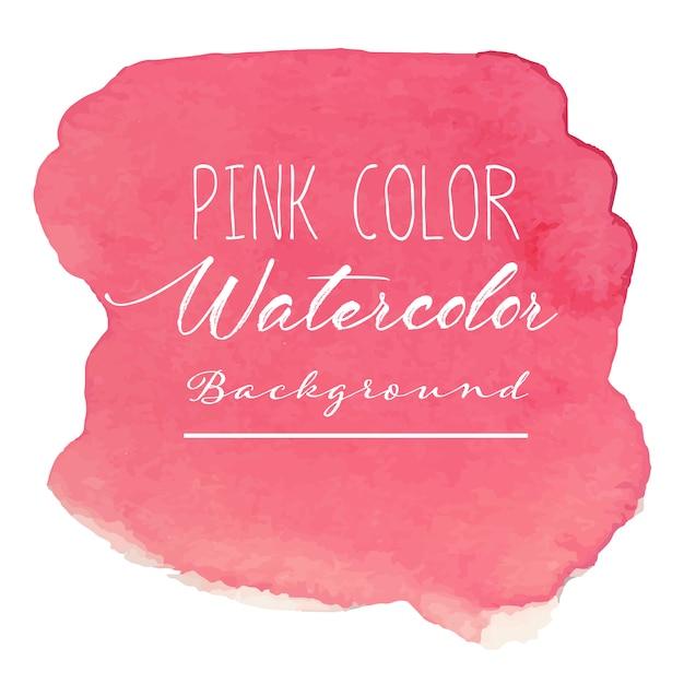ピンクの抽象的な水彩画の背景。 Premiumベクター