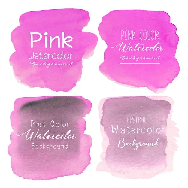 Розовый абстрактный фон акварелью. Premium векторы