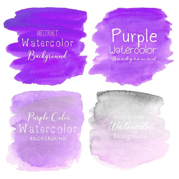 Фиолетовый абстрактный фон акварелью Premium векторы