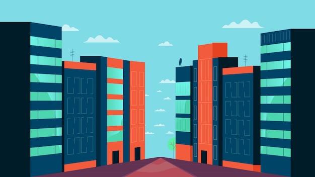 Пакет зданий векторная иллюстрация Premium векторы