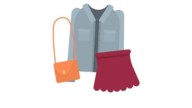 服を絶縁したベクトルイラスト Premiumベクター