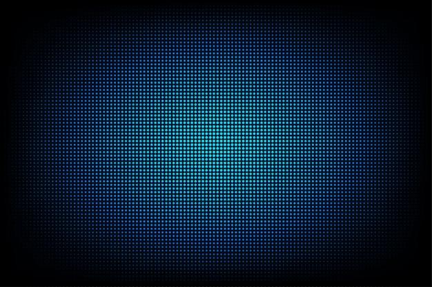 コンピューターグラフィックのウェブサイトのインターネットとビジネスのための光の抽象的な技術の背景。濃い青の背景 Premiumベクター