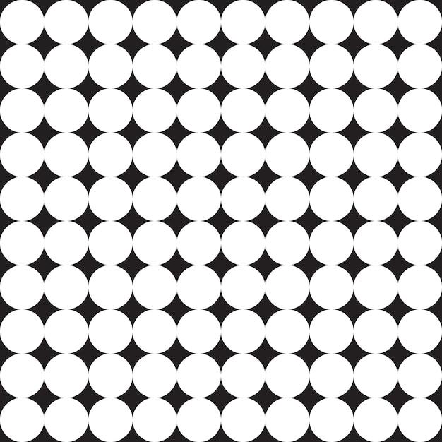 幾何学的なシームレスパターン。黒と白の背景。 Premiumベクター