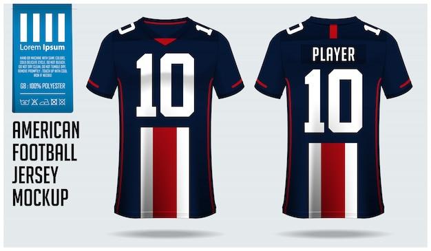 アメリカンフットボールジャージーまたはフットボールキットテンプレートデザイン Premiumベクター