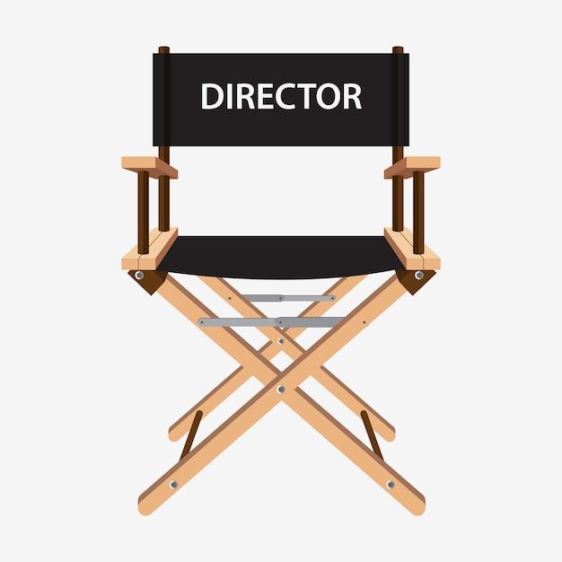 映画監督の椅子 Premiumベクター