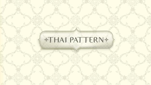 Абстрактная традиционная тайская предпосылка картины. Premium векторы