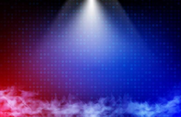 Абстрактный фон из синих и красных технологий и луч света Premium векторы