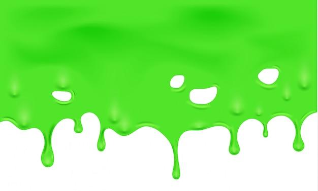 滴り落ちる緑スライムのイラスト ベクター画像 プレミアムダウンロード