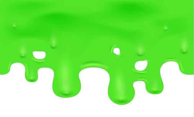 滴り落ちる緑スライムのイラスト Premiumベクター