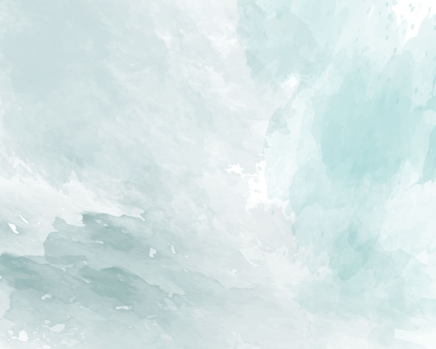 青い柔らかい水彩抽象テクスチャ。 Premiumベクター