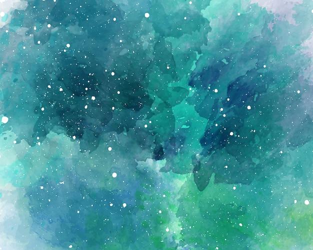 水彩空間の背景星空水彩テクスチャ Premiumベクター