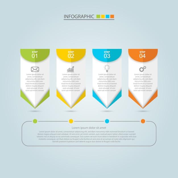 Бизнес инфографики дизайн Premium векторы