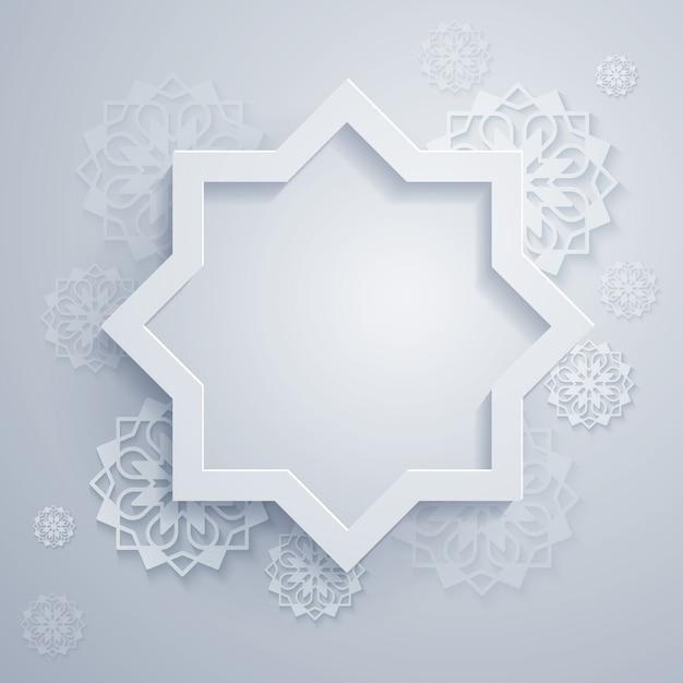 八角形と幾何学的な飾りと抽象的な背景 Premiumベクター