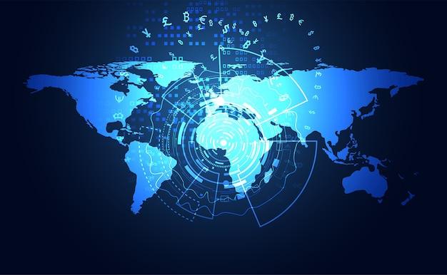 技術のグローバルな暗号化 Premiumベクター