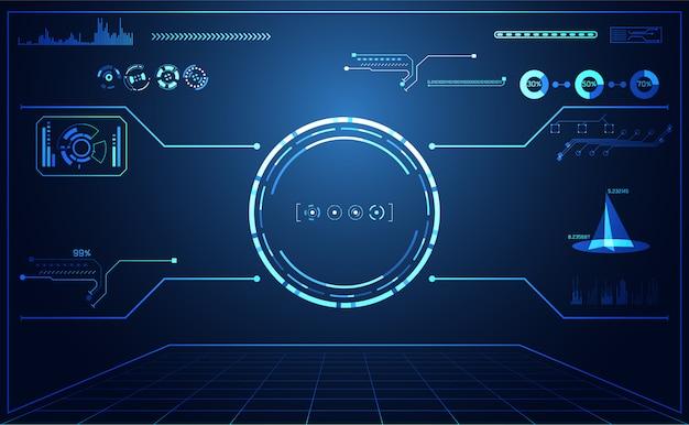 Абстрактная технология и футуристический интерфейс Premium векторы
