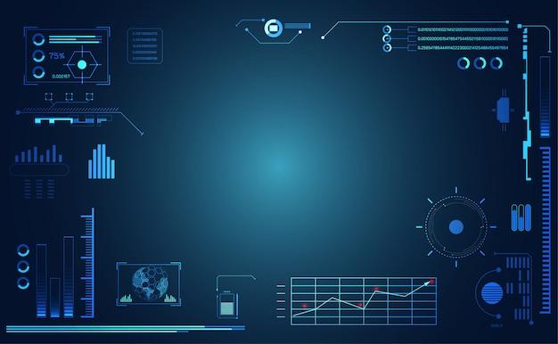 Абстрактный интерфейс и футуристический интерфейс Premium векторы