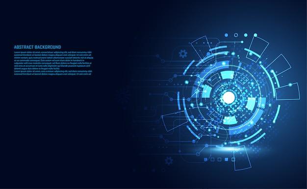Современная абстрактная технология цифровой схемы Premium векторы