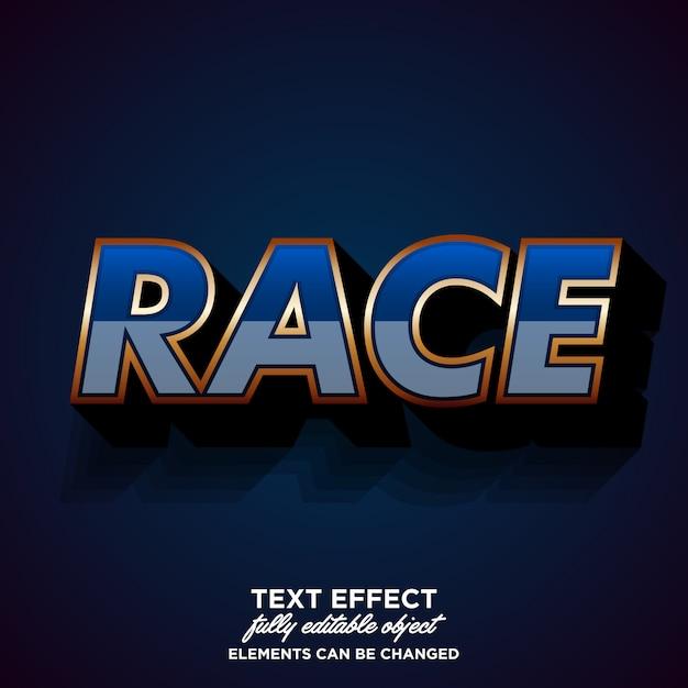 Современный эффект шрифта для стикера гоночного клуба Premium векторы