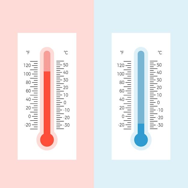 スケール付き温度計の図 Premiumベクター