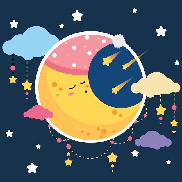 Спит луна картинки