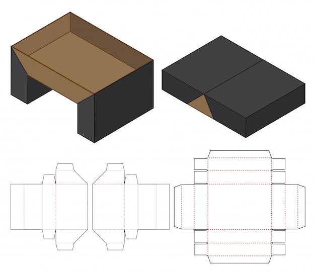 Коробка упаковочная высечка шаблон Premium векторы