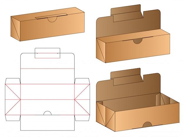 箱包装型抜きテンプレート Premiumベクター