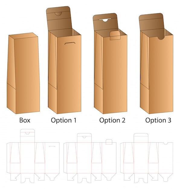 Коробка упаковочная вырубная шаблон Premium векторы