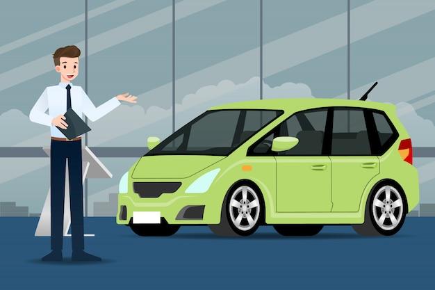 Авто дилерская продажа авто. Premium векторы