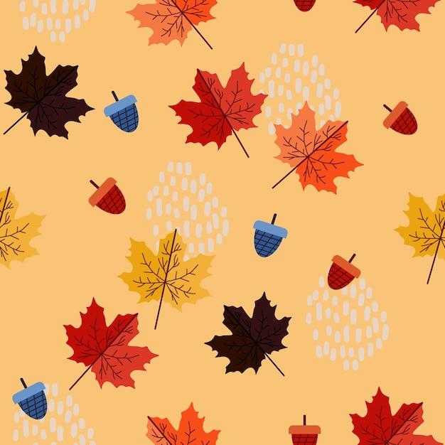 メンフィス幾何学的抽象的な秋の花のパターン Premiumベクター
