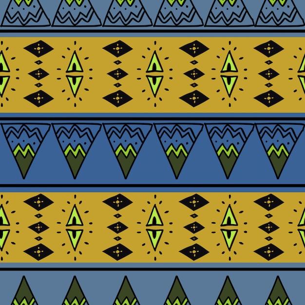 アフリカのシームレスパターンカラフルな抽象画 Premiumベクター