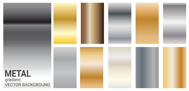 グラデーションメタルカラーのテーマベクトルテンプレートの背景。 Premiumベクター