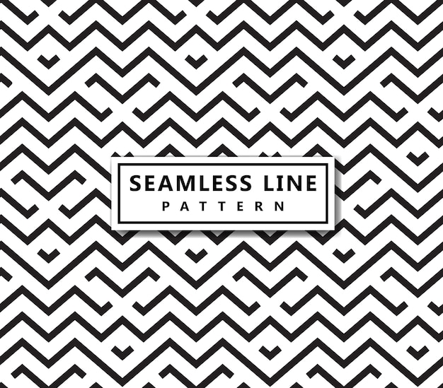 線の幾何学的パターン。シームレスなベクトルの背景。黒い質感。 Premiumベクター