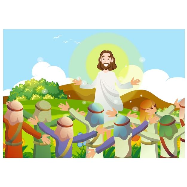 Учение иисуса Premium векторы