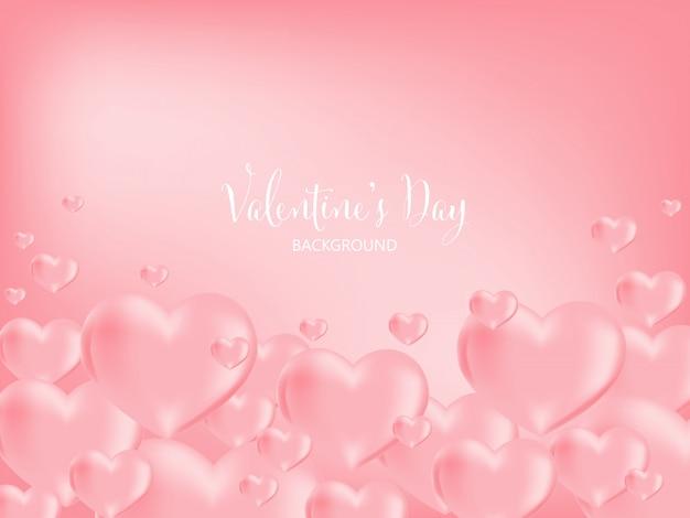 バレンタインデーの背景。 Premiumベクター