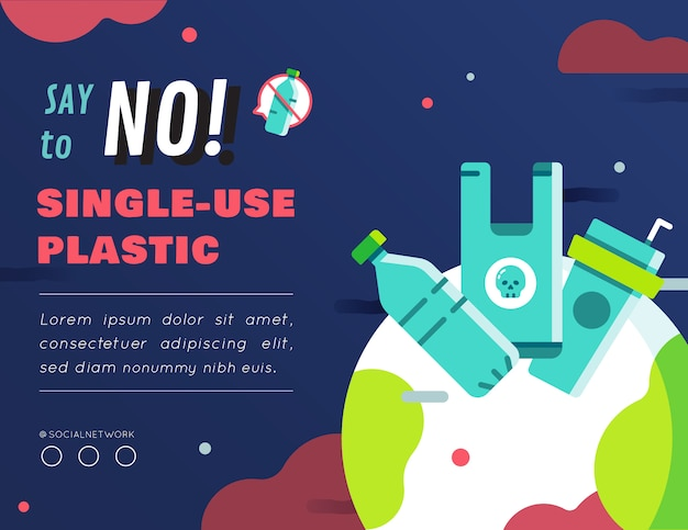 使い捨てのプラスチック製グラフィックコンテンツのレイアウトはありません Premiumベクター