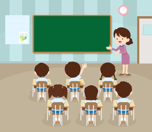 先生と生徒の手元 Premiumベクター