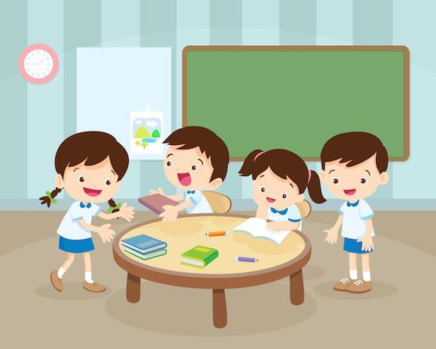 部屋での子供の活動 Premiumベクター