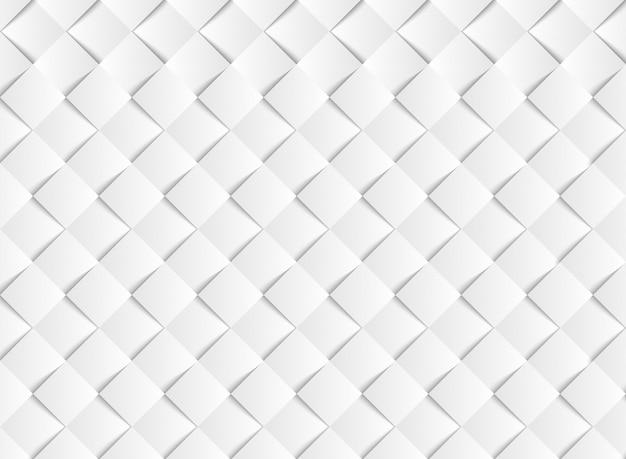抽象的なグラデーションホワイトベクトルスクエアペーパーカットパターン背景。 Premiumベクター