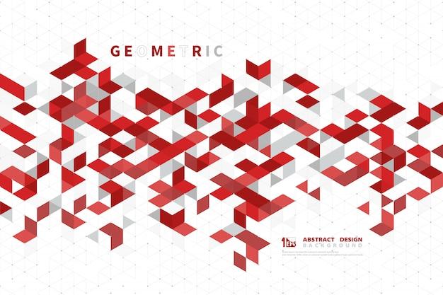 Аннотация бизнес красный цвет современной технологии квадратных геометрических. Premium векторы